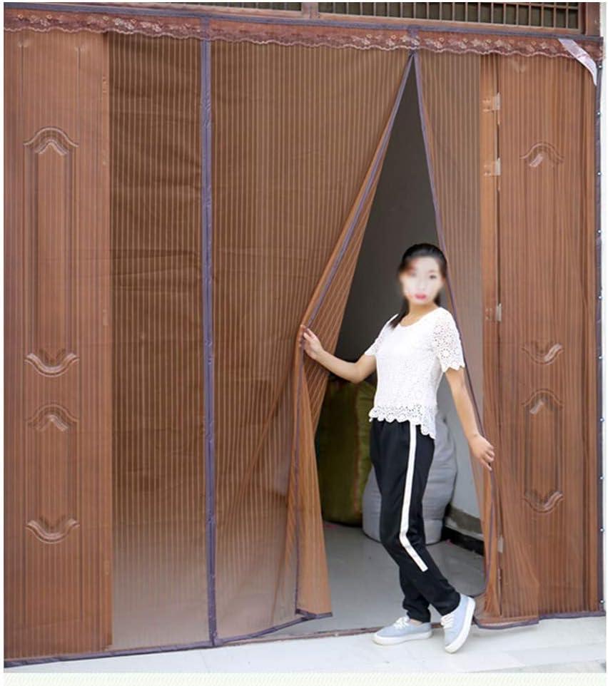 LJIANW Mosquitera Puerta Magnetica Doble Patio Cubierta De Malla for Puerta Corrediza Puertas Exteriores Fotograma Completo, Mantener Los Errores Fuera Permite Que Entre Aire Fresco