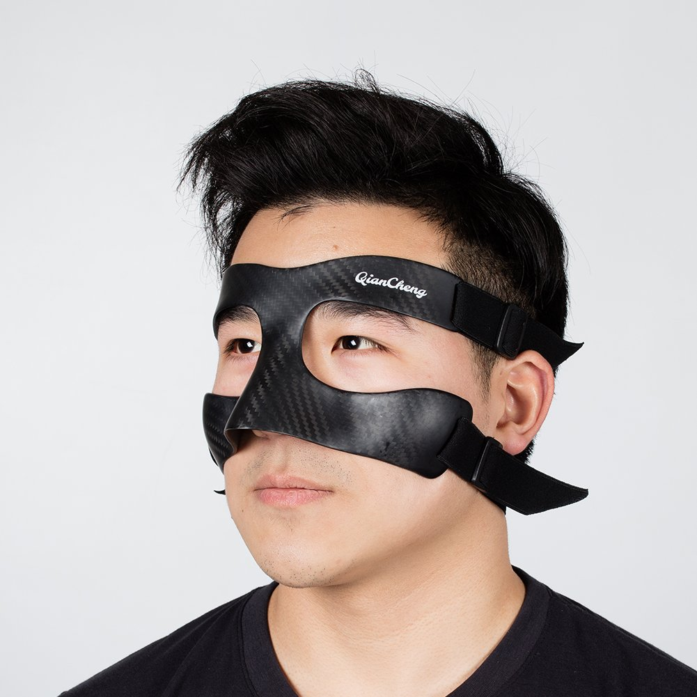 Qiancheng Nose Guard Face Shield, Carbon Fiber Protective Mask - Twill Weave Pattern QC-Pro-TW by Qiancheng (Image #3)