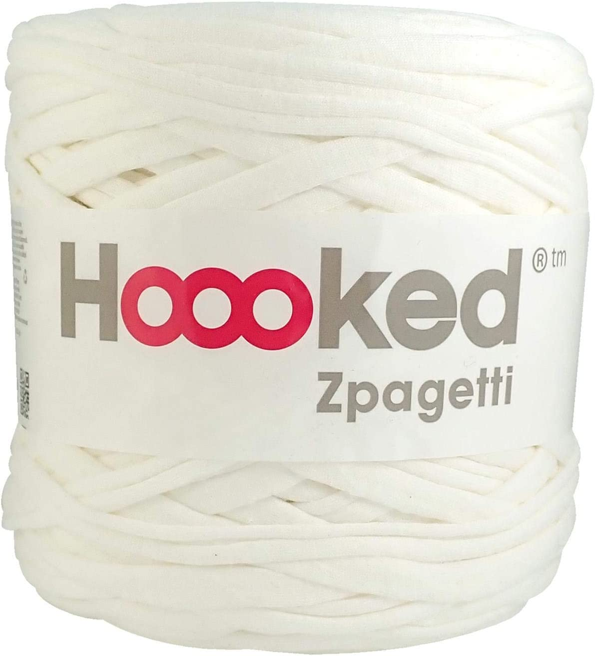 Hoooked Zpagetti T-Shirt-Garn 120/m 700/g Baumwolle wei/ß