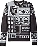 Oakland Raiders Patches Ugly Crew Neck Sweater Extra Large