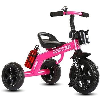 Guo shop- Niño triciclo mano empuje pequeño triciclo bicicleta coche de juguete Walker 1-