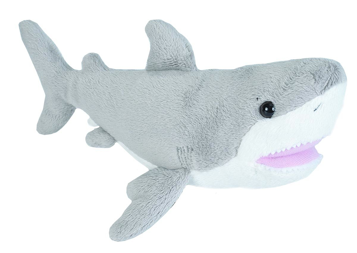 Wild Republic Great White Shark plush, Stuffed Animal, Plush Toy, Gifts for Kids, Sea Critters 11 inches