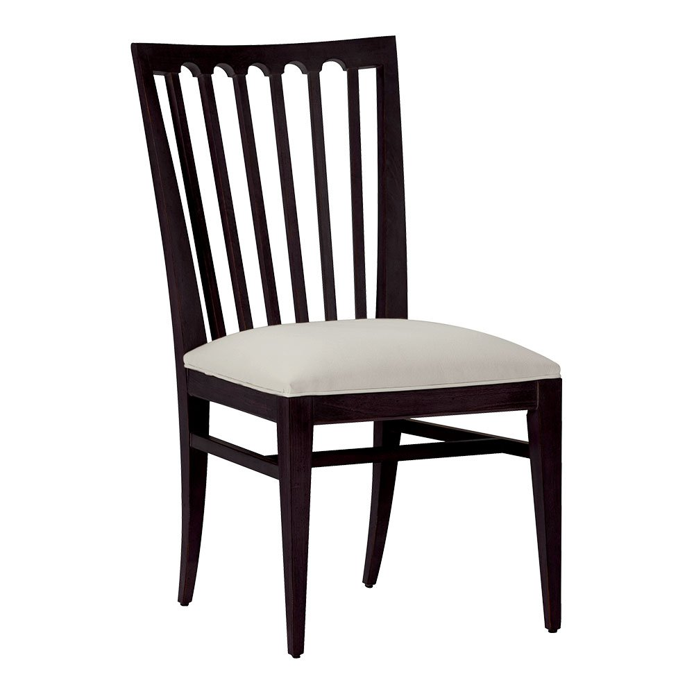 Amazon com ethan allen benham side chair charcoal cayman gray chairs