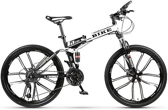 Novokart-Plegable Deportes/Bicicleta de montaña 24/26 Pulgadas 10 ...