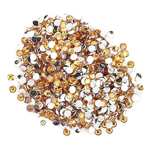 Round Beads for Jewelry Making -- Flat Back Clear Crystal Rhinestones (3 mm) Wholesale Bulk -- Yazycraft (Crystal Rhinestone Beads)