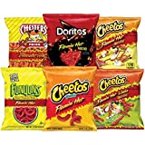 Frito-Lay Flamin' Hot Mix Variety Pack, Cheetos Cheese Snacks, Funyuns and More, 40 Count