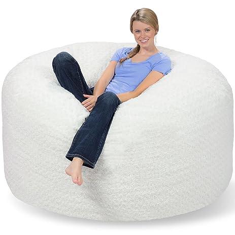 Comfy Sacks 6 Ft Memory Foam Bean Bag Chair Polar Fox