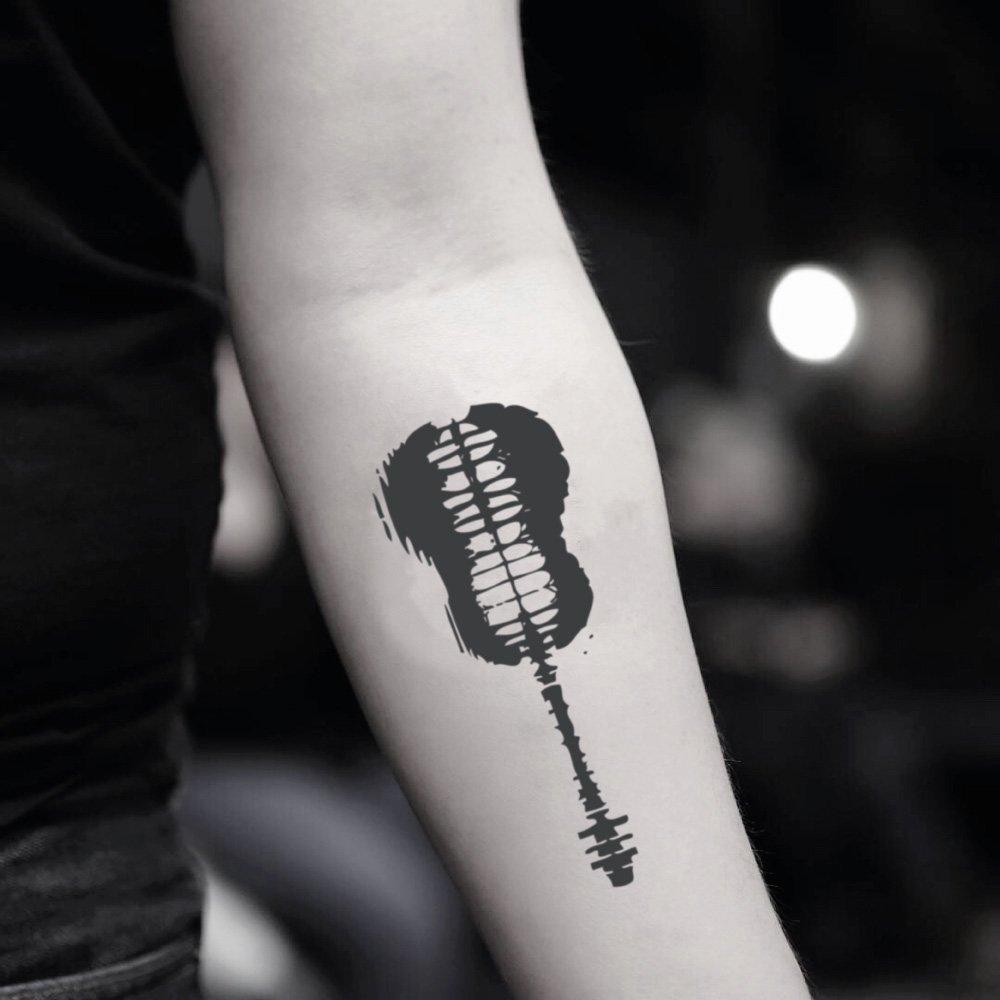 Shawn Mendes Guitar Temporary Fake Tattoo Sticker (Set of 2) - TOODTATTOO.COM TOOD TATTOO