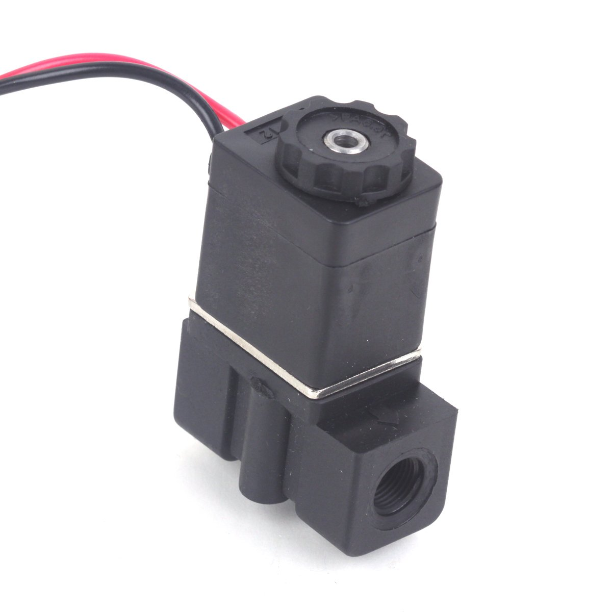 12V DC 1/4'' Inch N/C Normally Closed Plastic Electric Air Gas Water Solenoid Valve