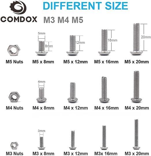 CR371 Core RC Steel Button Head Hex Screws M4 x 8 pk10