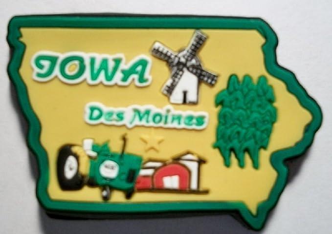 Amazon.de: Iowa Des Moines, mehrfarbig, PVC-Kühlschrank-Magnet