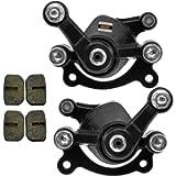 HIAORS Front Rear Brake Caliper With Two Pairs Spare Brake Pads for 47cc 49cc Pocket Bike MAT1 MAT2 Cat Eye FS509 X1 X2…