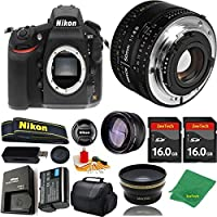 Great Value Bundle for D810 DSLR – 50MM 1.8D + 2PCS 16GB Memory + Wide Angle + Telephoto Lens + Case