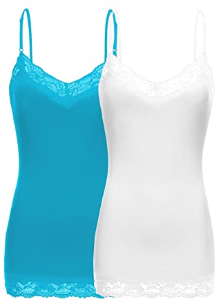 da37343a3fb0fa Simlu Lace Camis Cotton Camisole Cami Tank Top Lace Layering Tank Top for  Women at Amazon Women s Clothing store