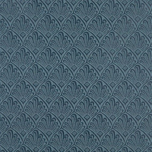 A127 Dark Blue Two Toned Fan Upholstery Fabric by The - Two Toned Sectional Set