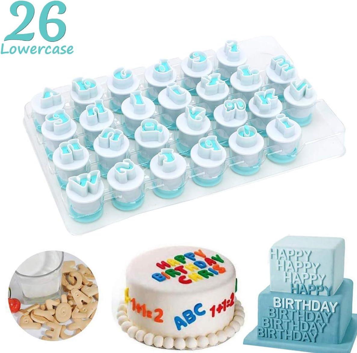 26pcs//set Lowercase Alphabet Letter Cookie Cutters Cake Decorating Molds