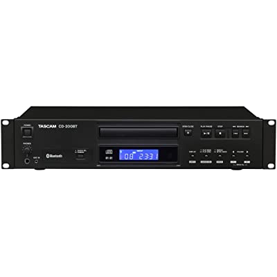 Tascam CD-200BT Rackmount Professional CD Player with Bluetooth Wireless: Musical Instruments
