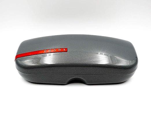 8cf9ba27f92c Prada Sport Linea Rossa Gray Sunglass Eyeglass Case - Small at ...