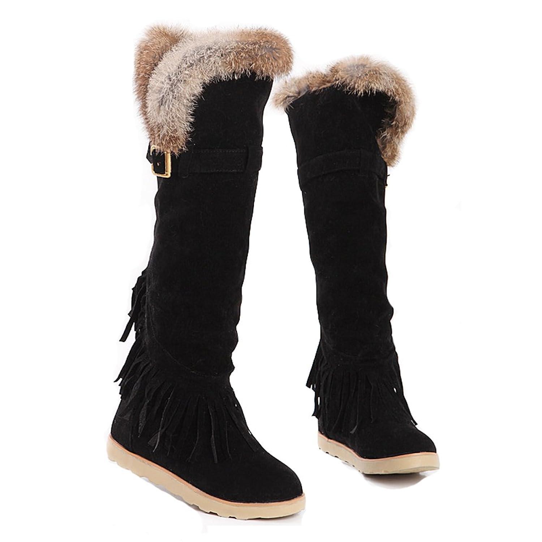 d49522b01a6cc chic Aisun Women's Stylish Tassel Belt Buckle Flat Knee High Snow ...