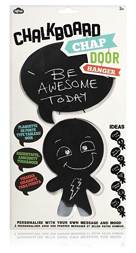 Amazon.com: NPW Chalkboard Chap Door Hanger, Tell Them How ...