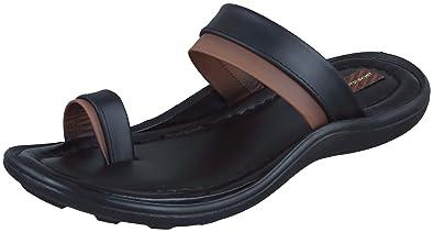 88fb777237a435 Marshal Men s Black Genuine Leather Chappal Flip Flops Thong Sandals 10 Size  UK India