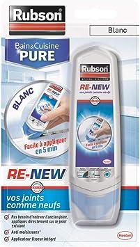 Rubson 2217281 Re-New: masilla para baño y cocina, tus juntas como nuevas, blanco, RE-NEW: Amazon.es: Bricolaje y herramientas