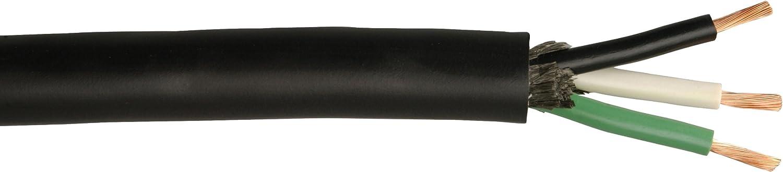 Coleman Cable 232850408 18/2 250-Foot SJEW Service Cord, Black
