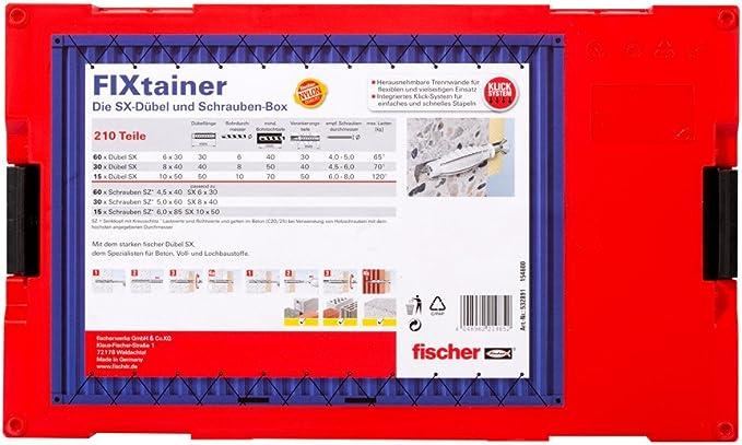 Die SX-Dübel-Box Fischer FIXtainer