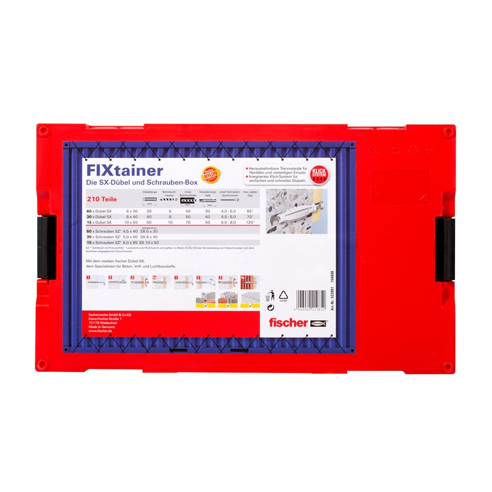 Fischer DuoPower 2-componenti-Universal tasselli con punta-o 6 punte vite