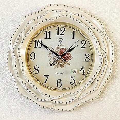 BBSLT Reloj de pared clásico europeo clock silenciar el salón dormitorio Salón ideas Ángel montado en la pared, una decoración de pared relojes: Amazon.es: ...