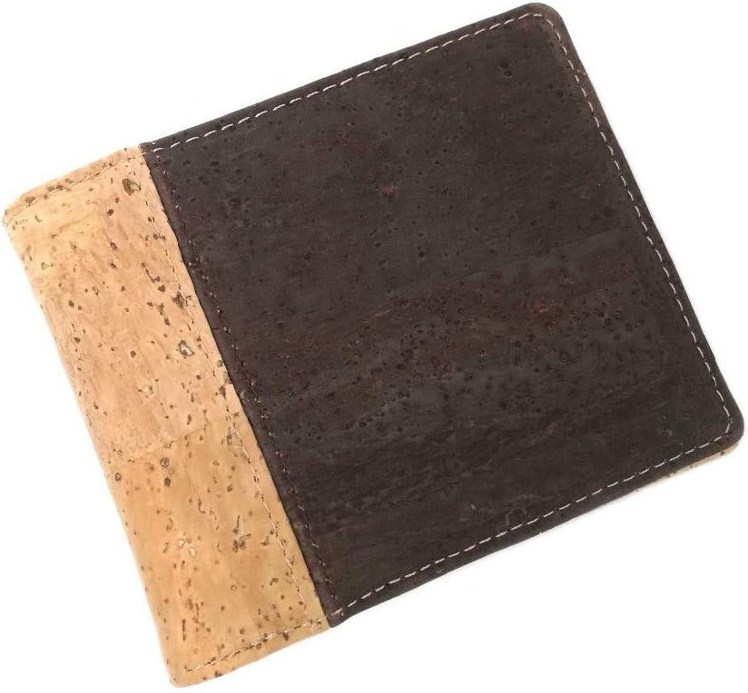 Marrón y combinación de Colores rústicos Billetera de Tarjeta de Hombre