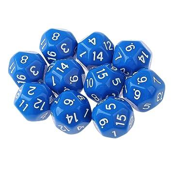 D DOLITY D16 Dados para Juego de Mesa DND MTG RPG 10 Unids - Azul ...