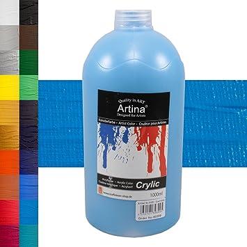 Artina Crylic Acrylfarben - hochwertige Künstler-Malfarbe in 1000 ml ...