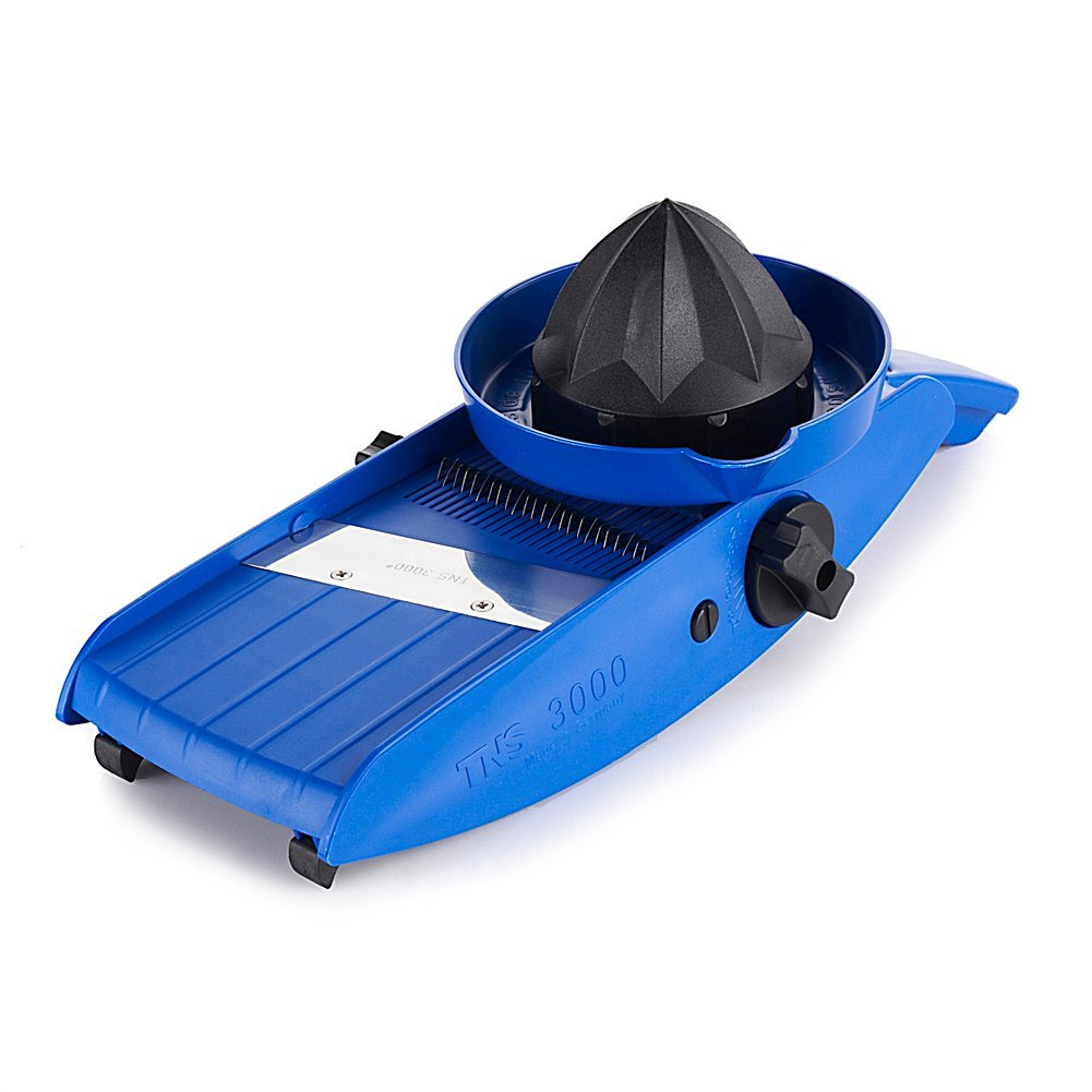 Global home Easy Hold Mandoline Slicer with Lemon Squeezer TNS 3000 All in one Blue