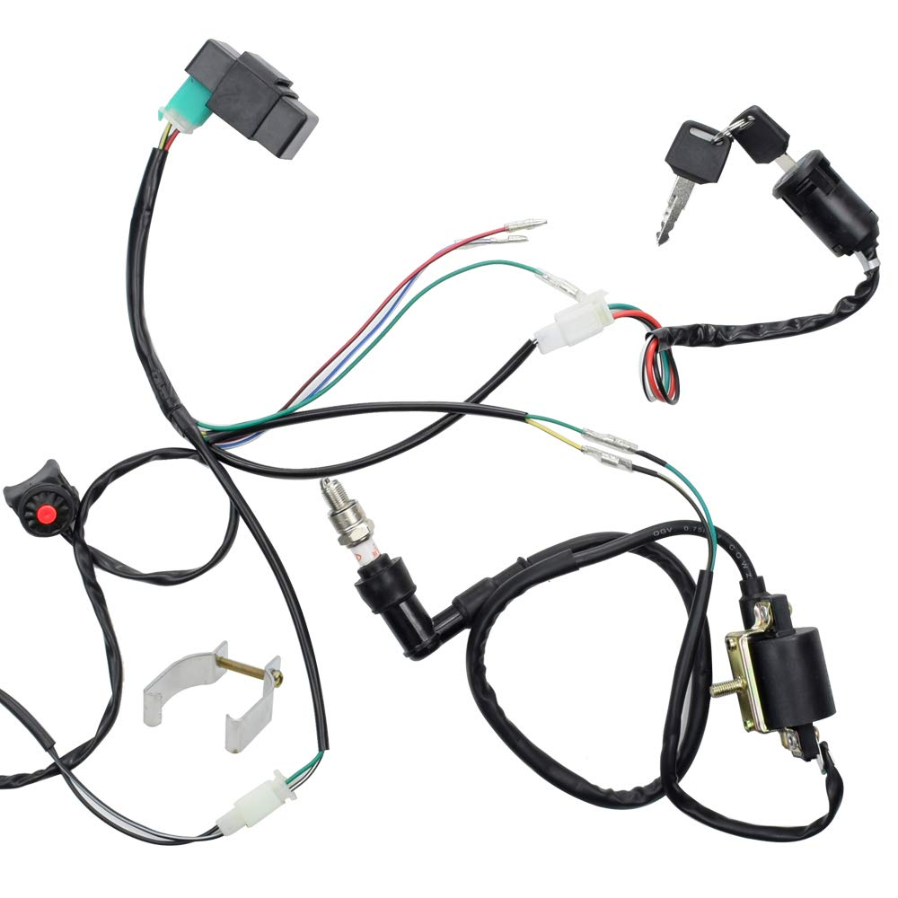 HIAORS ATV Wire Harness Wiring Loom 5 Pin CDI Ignition Coil ... on lifan honda wiring, lifan 110cc mini chopper wiring diagram, crf50 lifan 125 wiring, lifan 125 wiring lights, lifan engine wiring, lifan 200cc wiring-diagram, lifan wiring no battery, lifan 125 pit bike motor wiring, lifan 110 wiring diagram, lifan 250 wiring diagram,