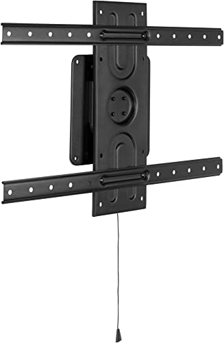 Mount-It Landscape to Portrait Rotating TV Wall Mount Vertical Flush TV Mount with 360 Degree Rotation Fits VESA Up to 600×400, 37 to 80 Inch Screens, 110 Lbs Capacity