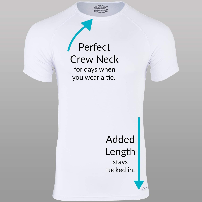 3 Pack Micro Modal Anti-Odor Silver Ejis Premium Mens Undershirts Crew Neck Multi-Pack