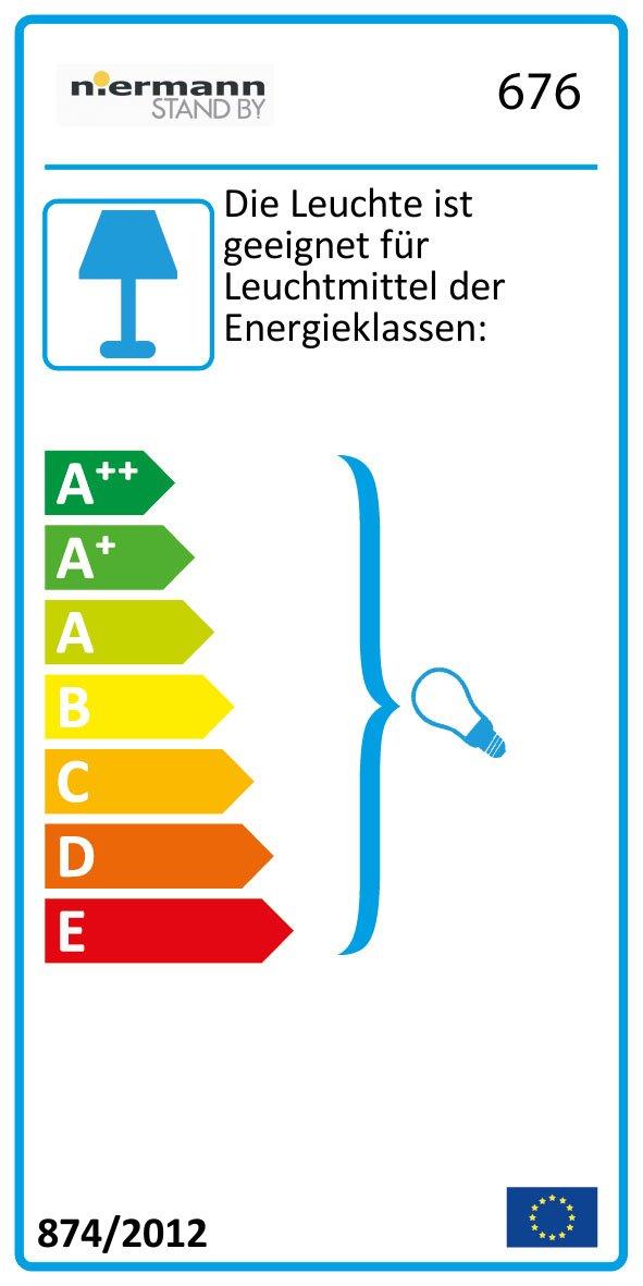 Niermann Standby Kunststoff DeckenleuchteSunny 681