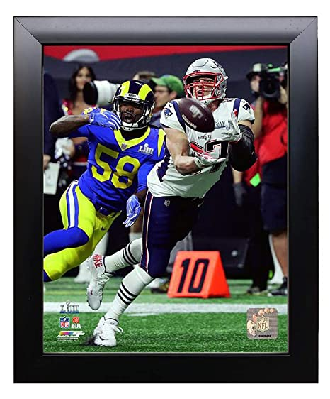 ff6a8e32250 Image Unavailable. Image not available for. Color  Framed New England Patriots  Rob Gronkowski During Super Bowl LIII ...