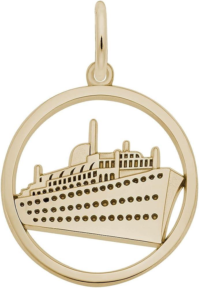 10k Yellow Gold Cruise Ship Pendant
