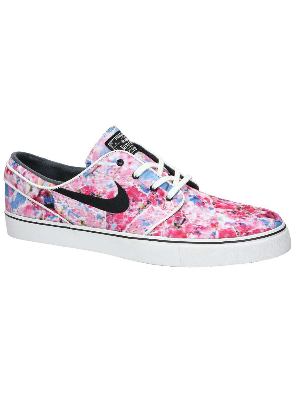 ef4b8d5775af Galleon - Nike SB Air Zoom Stefan Janoski Canvas Premium Dynamic Pink/Black/ White/Gum/Light Brown Skate Shoes-Men