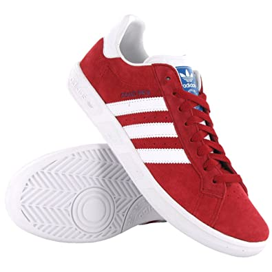 outlet store 9e8d4 ffcc6 Adidas Grand Prix Red White Suede Mens Trainers Size 11.5 UK Amazon.co.uk  Shoes  Bags