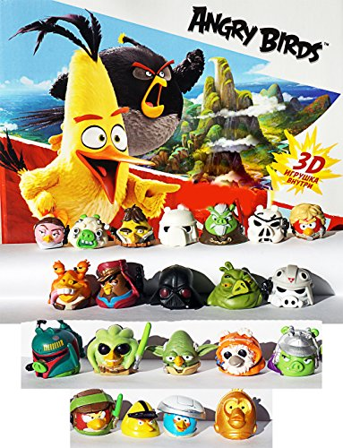 RusToyShop 10psc random angry birds From Kinder Surprise Eggs (1inch) Party FavorToy Filled Easter mini figures actions tv