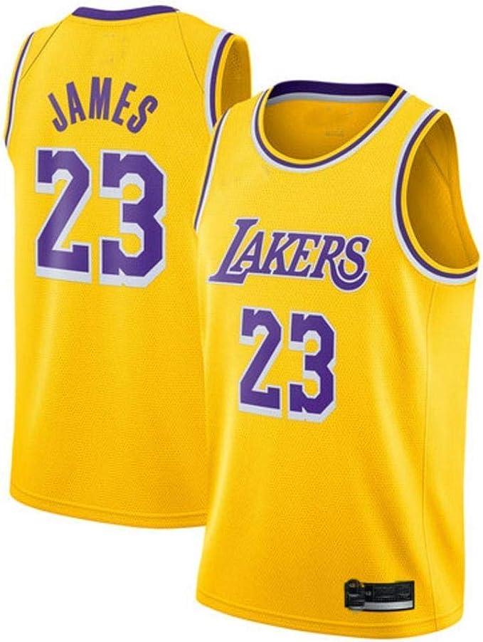 Genrics Camiseta Baloncesto Jersey -23 Camiseta de Baloncesto Los Angeles Lakers Camiseta - Negro Amarillo Violeta (TAMAÑO: S-XXL): Amazon.es: Deportes y aire libre