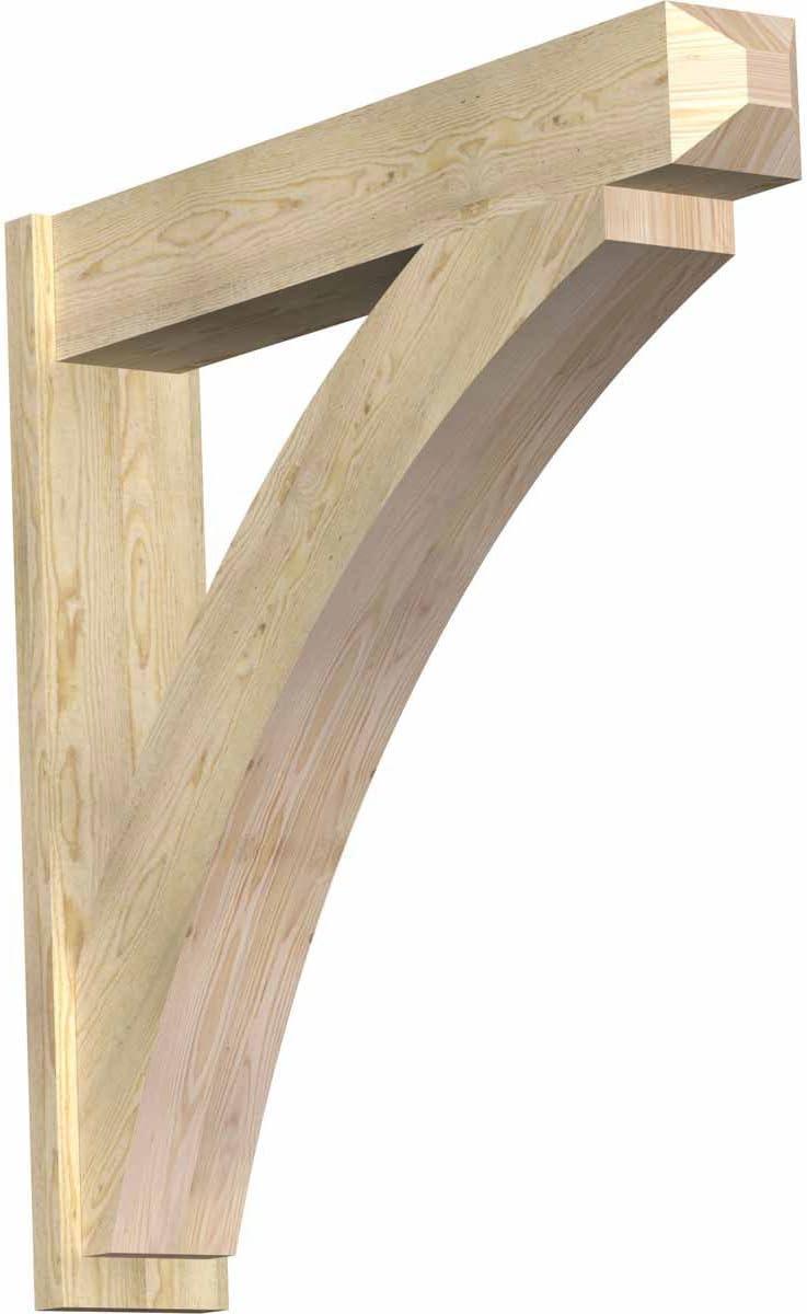 Ekena Millwork OUT06X30X34THR04RWR Thorton Rough Sawn Craftsman Outlooker Western Red Cedar 6 Width x 30 Depth x 34 Height