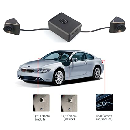 3 Car Camera Video Input Airysee Vsa20 Left Right Car Side View Cameras Vehicle Backup Camera System Control Box For Surround Car Parking Assist