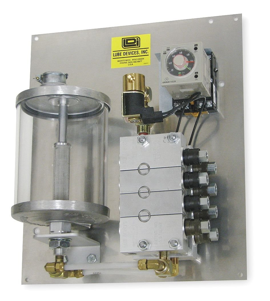 PMP360-08 300 psi Lubrication Type: Oil Feeds: 8 LDI Industries Air-Operated Precision Metering Lubrication System