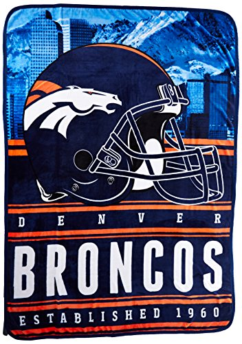 "Northwest Officially Licensed NFL Denver Broncos Stacked Silk Touch Throw Blanket, 60"" x 80"" from Northwest"
