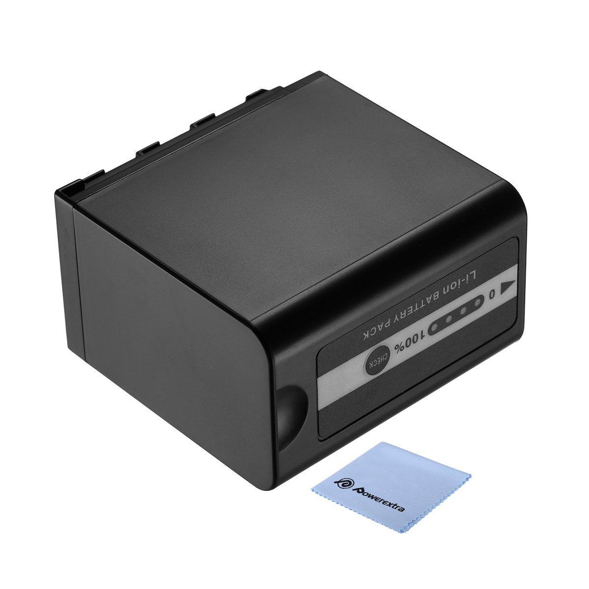 Powerextra 7800mAh Battery for Panasonic VW-VBD58 VW-VBD78 and Panasonic AG-3DA1, AG-AC8 AG-DVC30 AG-HPX171 AG-HPX250 AG-HPX255, AG-HVX201, AJ-PCS060, AJ-PX270, AJ-PX298, HC-MDH2, HC-X1000, HDC-Z10000