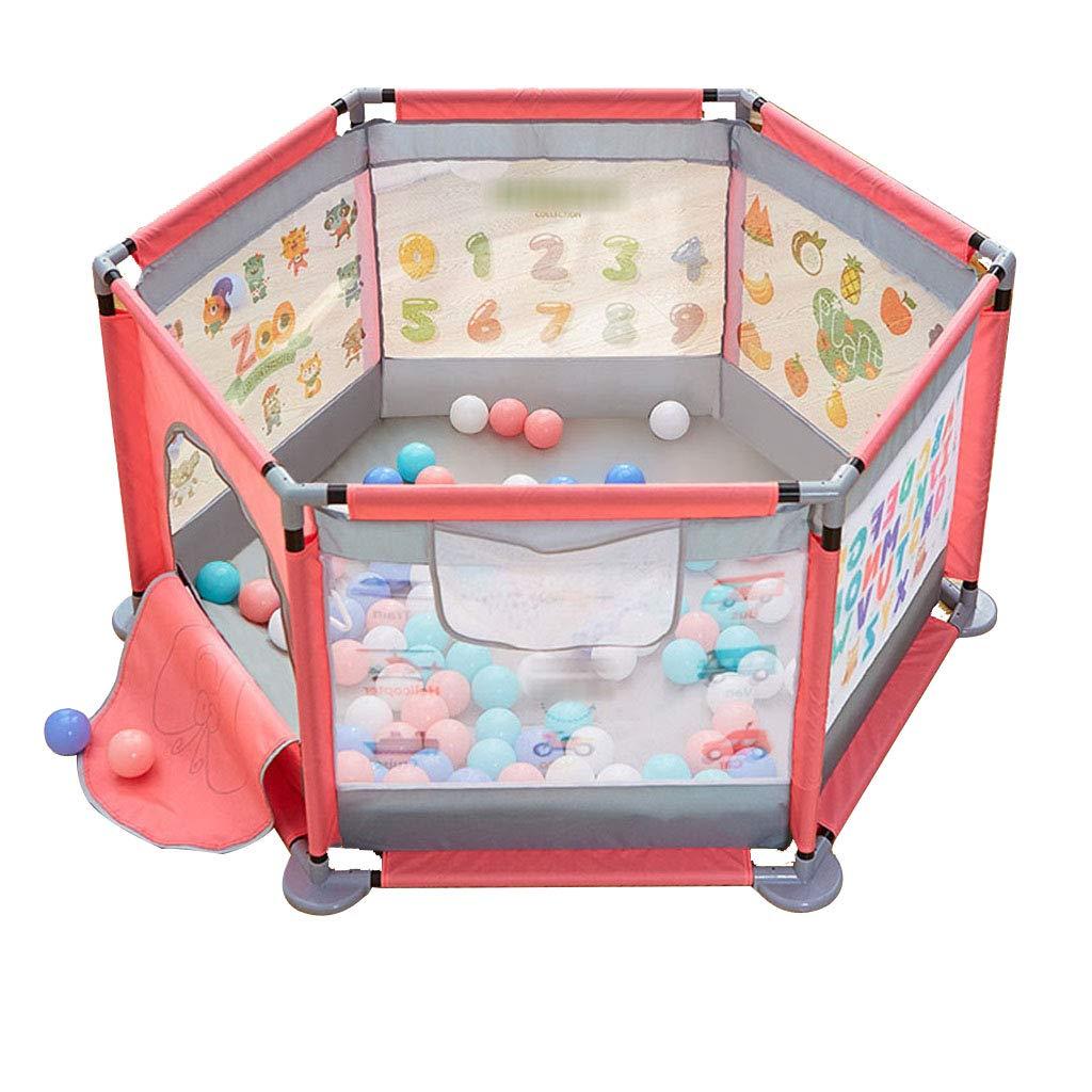 【保障できる】 ベビーベビーサークル - 赤ちゃんのための - B07QRYGKP3 丈夫なベース、横滑り防止パッド -、身長25.6インチの乳児と赤ちゃんのための安全遊戯用ペン Pink Pink B07QRYGKP3, calinuts:52145bc9 --- a0267596.xsph.ru